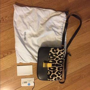 Celine, leopard calf skin box bag, preowned